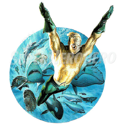 Designs Aquaman Iron on Transfers (Wall & Car Stickers) No.4875
