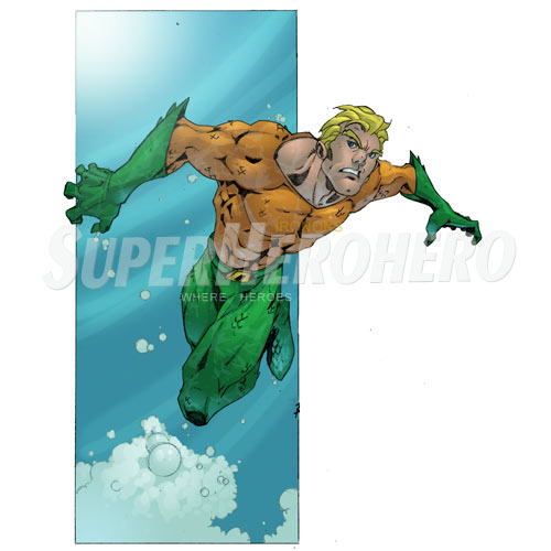 Designs Aquaman Iron on Transfers (Wall & Car Stickers) No.4883