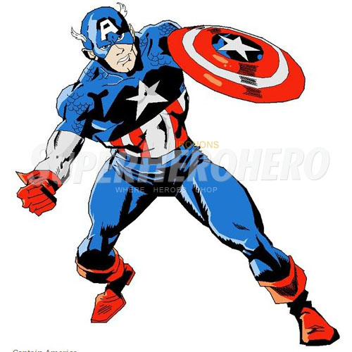 Designs Captain America Iron on Transfers (Wall & Car Stickers) No.4462