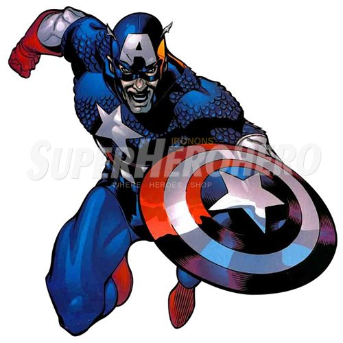Designs Captain America Iron on Transfers (Wall & Car Stickers) No.4463