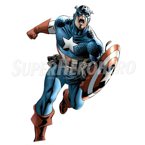 Designs Captain America Iron on Transfers (Wall & Car Stickers) No.4465