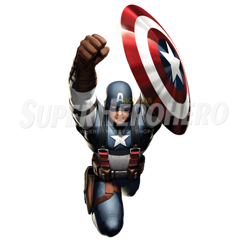Designs Captain America Iron on Transfers (Wall & Car Stickers) No.4466