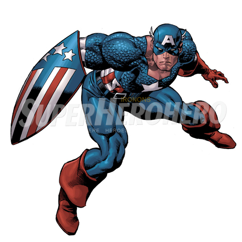 Designs Captain America Iron on Transfers (Wall & Car Stickers) No.4468