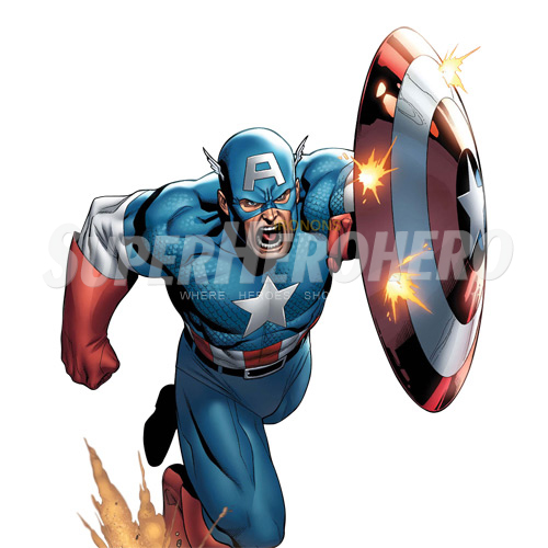 Designs Captain America Iron on Transfers (Wall & Car Stickers) No.4469