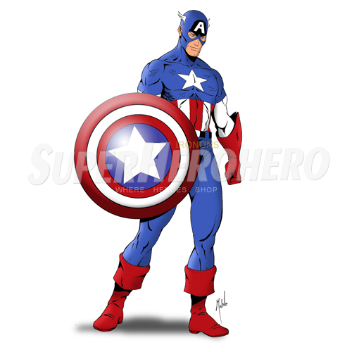 Designs Captain America Iron on Transfers (Wall & Car Stickers) No.4470