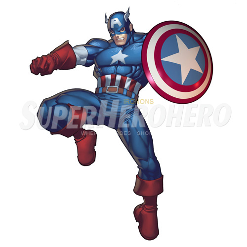 Designs Captain America Iron on Transfers (Wall & Car Stickers) No.4471