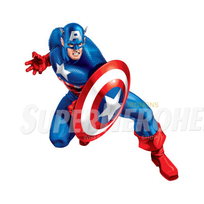 Designs Captain America Iron on Transfers (Wall & Car Stickers) No.4472