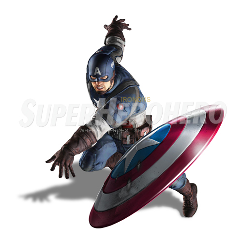 Designs Captain America Iron on Transfers (Wall & Car Stickers) No.4474