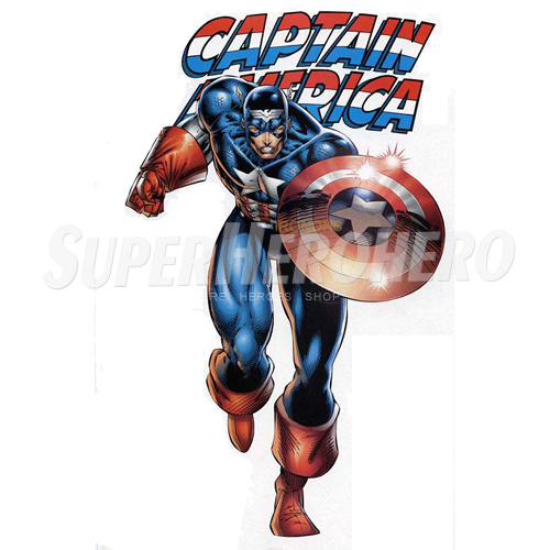 Designs Captain America Iron on Transfers (Wall & Car Stickers) No.4475