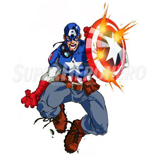 Designs Captain America Iron on Transfers (Wall & Car Stickers) No.4477