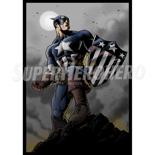 Designs Captain America Iron on Transfers (Wall & Car Stickers) No.4478
