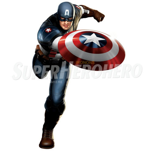 Designs Captain America Iron on Transfers (Wall & Car Stickers) No.4480