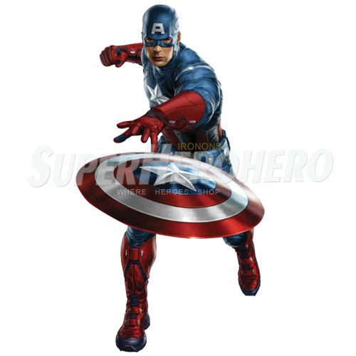Designs Captain America Iron on Transfers (Wall & Car Stickers) No.4483
