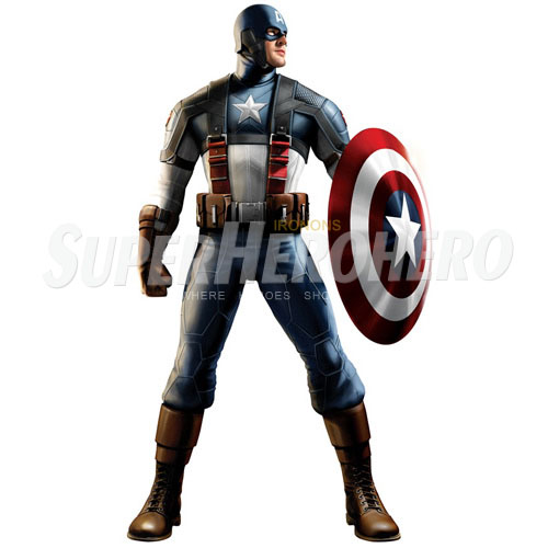 Designs Captain America Iron on Transfers (Wall & Car Stickers) No.4486