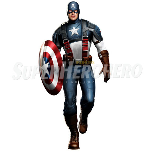 Designs Captain America Iron on Transfers (Wall & Car Stickers) No.4487