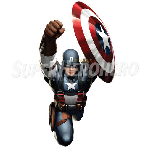 Designs Captain America Iron on Transfers (Wall & Car Stickers) No.4488