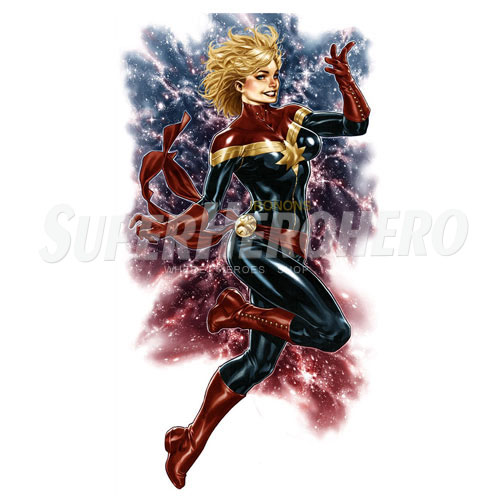 Custom Captain Marvel Iron on Transfers (Wall & Car Stickers) No.7473
