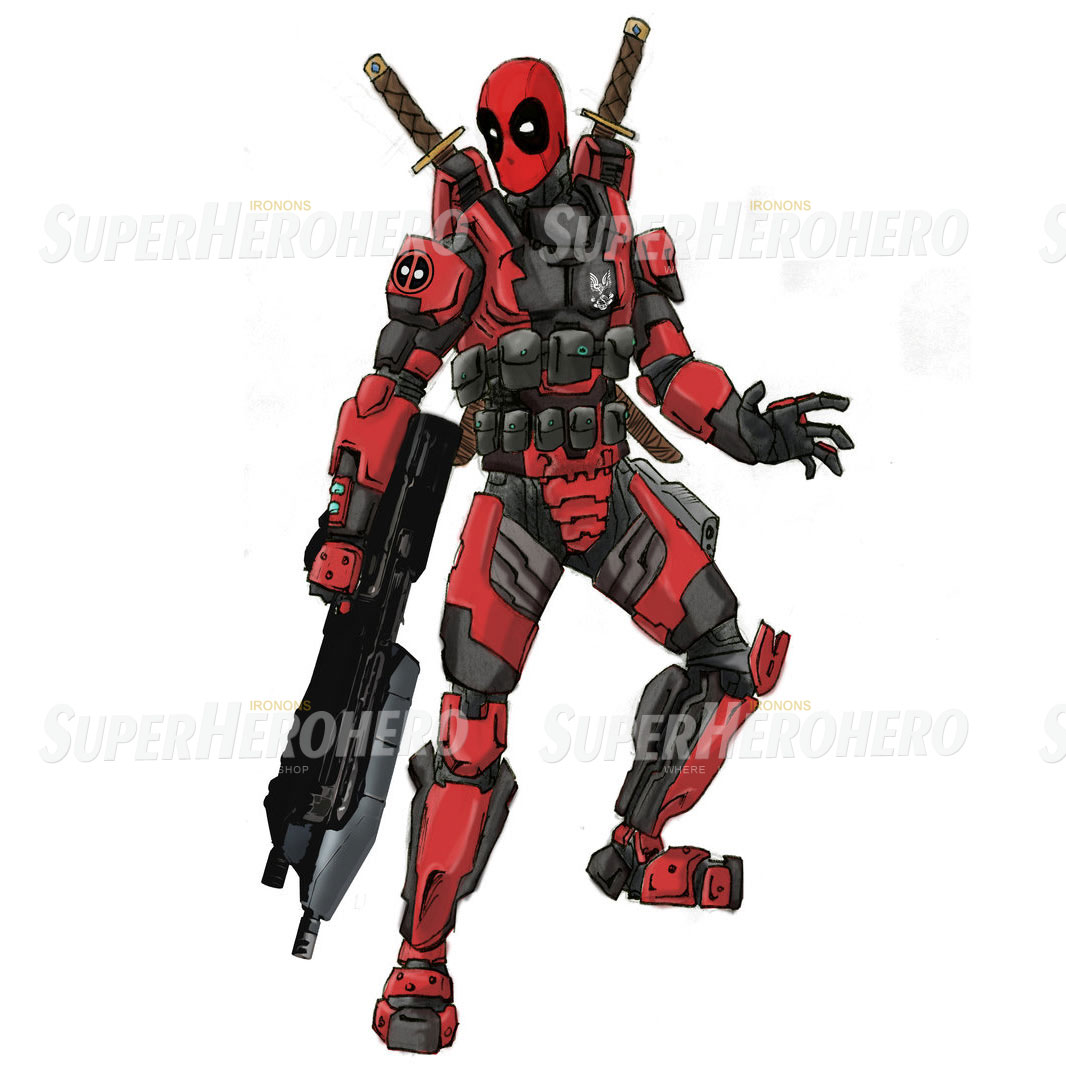 Designs Deadpool Iron on Transfers (Wall & Car Stickers) No.4931