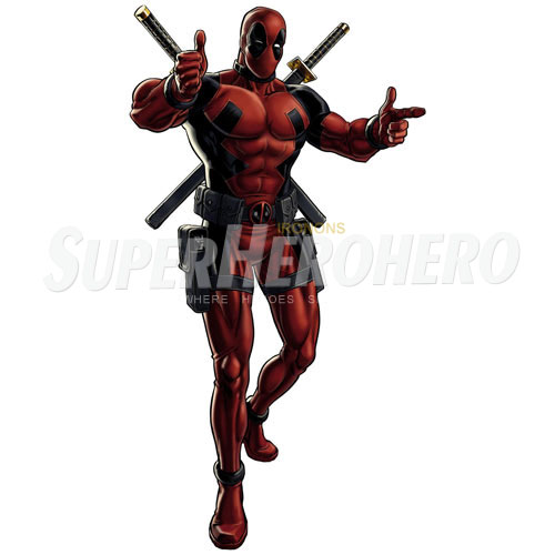 Designs Deadpool Iron on Transfers (Wall & Car Stickers) No.4932