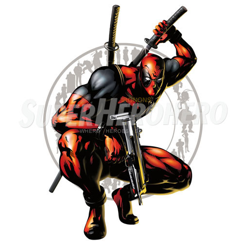 Designs Deadpool Iron on Transfers (Wall & Car Stickers) No.4934