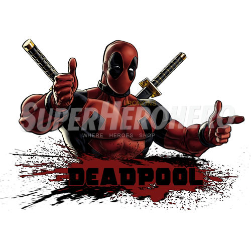 Designs Deadpool Iron on Transfers (Wall & Car Stickers) No.4939