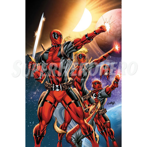 Designs Deadpool Iron on Transfers (Wall & Car Stickers) No.4945