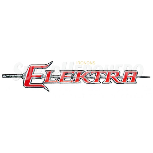 Custom Elektra Iron on Transfers (Wall & Car Stickers) No.7615