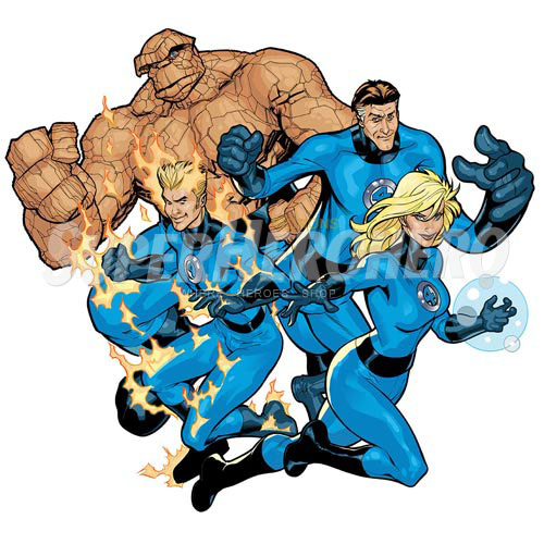 Designs Fantastic Four Iron on Transfers (Wall & Car Stickers) No.4948