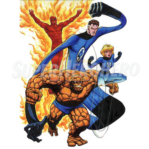 Designs Fantastic Four Iron on Transfers (Wall & Car Stickers) No.4952