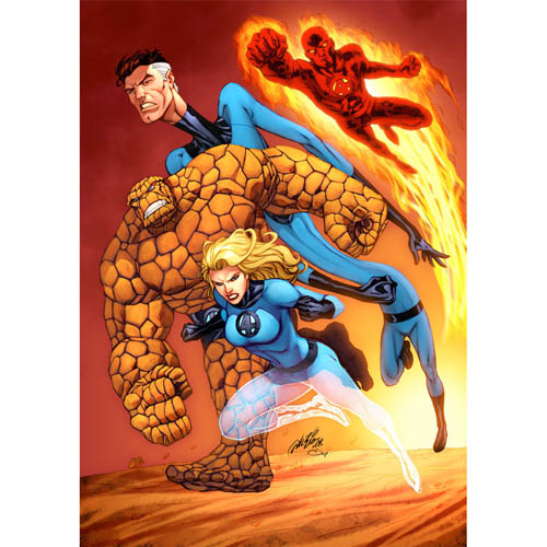 Designs Fantastic Four Iron on Transfers (Wall & Car Stickers) No.5960