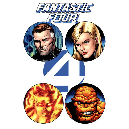 Designs Fantastic Four Iron on Transfers (Wall & Car Stickers) No.5961