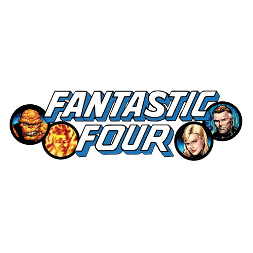 Designs Fantastic Four Iron on Transfers (Wall & Car Stickers) No.5962