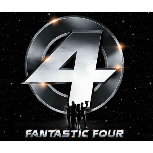 Designs Fantastic Four Iron on Transfers (Wall & Car Stickers) No.5972