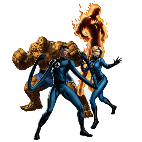 Designs Fantastic Four Iron on Transfers (Wall & Car Stickers) No.5991