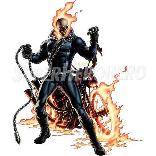 2 designs ghost rider iron on transfers wall car stickers no 4954