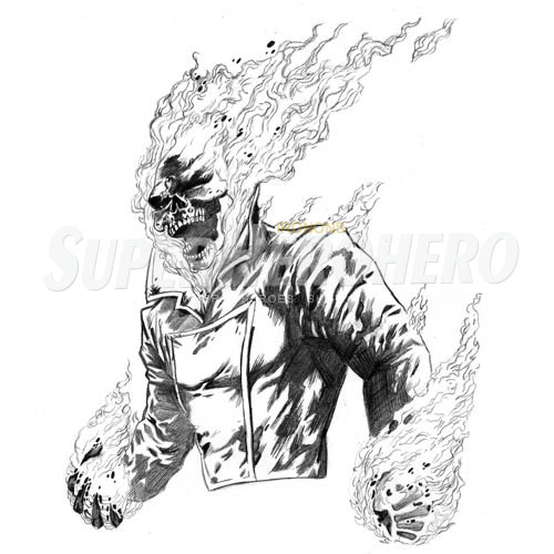 Designs Ghost Rider Iron on Transfers (Wall & Car Stickers) No.4956