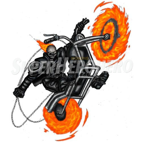 2 designs ghost rider iron on transfers wall car stickers no 4957