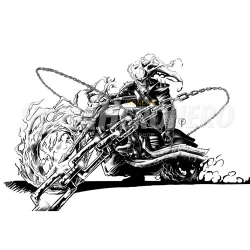 Designs Ghost Rider Iron on Transfers (Wall & Car Stickers) No.4959