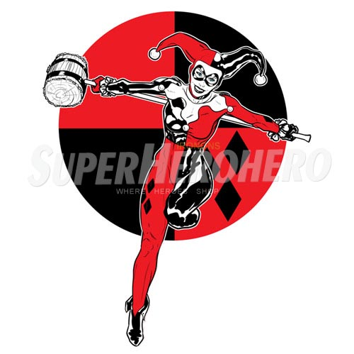 2 custom harley quinn iron on transfers wall car stickers no 7633