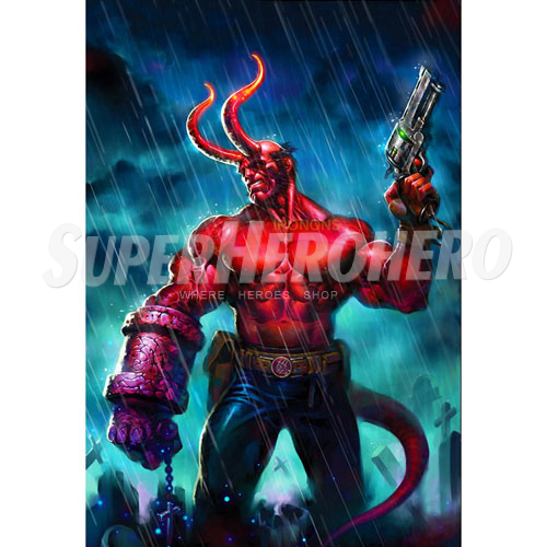 Designs Hellboy BPRD Iron on Transfers (Wall & Car Stickers) No.5002