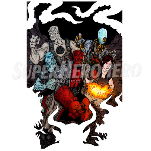 Designs Hellboy BPRD Iron on Transfers (Wall & Car Stickers) No.5003