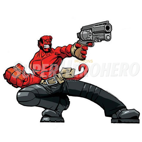 Designs Hellboy BPRD Iron on Transfers (Wall & Car Stickers) No.5009