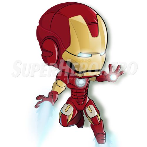 Designs Iron Man Iron on Transfers (Wall & Car Stickers) No.4571