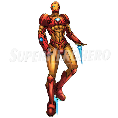 Designs Iron Man Iron on Transfers (Wall & Car Stickers) No.4575
