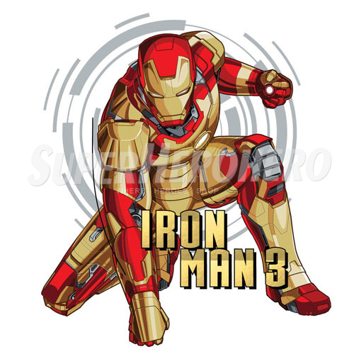 Designs Iron Man Iron on Transfers (Wall & Car Stickers) No.4584