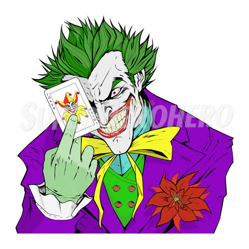 Designs Joker Iron on Transfers (Wall & Car Stickers) No.5021