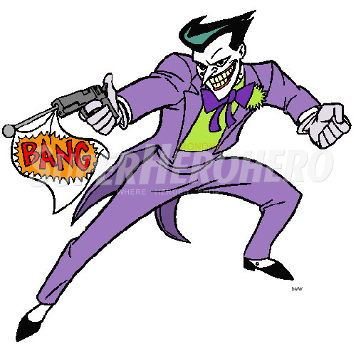 Designs Joker Iron on Transfers (Wall & Car Stickers) No.5023