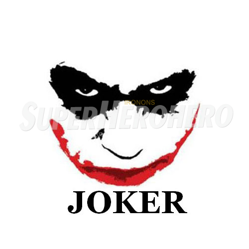 Designs Joker Iron on Transfers (Wall & Car Stickers) No.5030