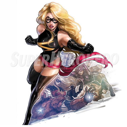 Custom Ms.Marvel Iron on Transfers (Wall & Car Stickers) No.6498