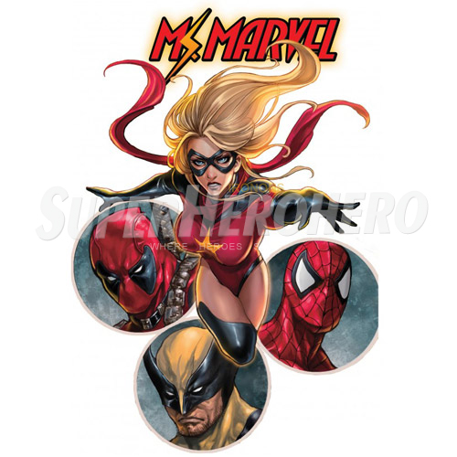 Custom Ms.Marvel Iron on Transfers (Wall & Car Stickers) No.6501